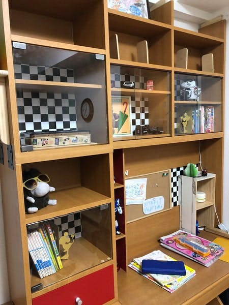 K様 勉強机やコレクションケースの引き戸や扉