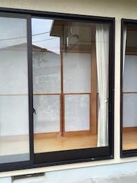 山崎様 窓のガラス交換