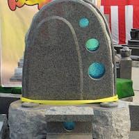 K社 様  墓石とガラスのコラボ