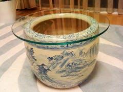 Y.K 様 火鉢のガラストップ