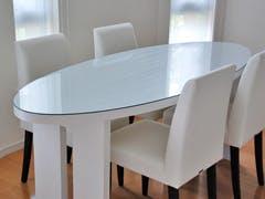 T 様 楕円形テーブルの天板ガラス