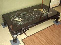 K 様 本格螺鈿テーブルのオーバーガラス