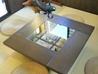 N 様 囲炉裏テーブル天板ガラス