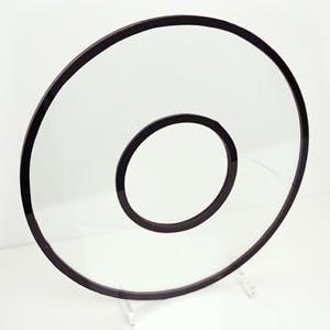 穴開き・円形ペアガラス