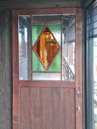 K様 居酒屋の木製引き戸のガラス