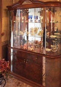 I 様 アンティーク食器棚のガラス