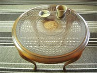 K様 籐の丸テーブルの天板