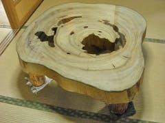 M様 丸太テーブルの天板