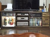 U様 テレビ台のガラス戸増設