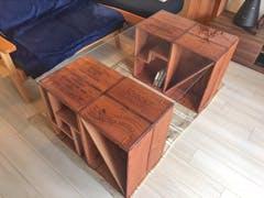 S様 ワインの木箱のテーブルの天板