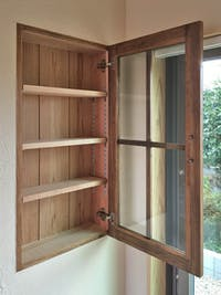 N様 木製棚の扉用ガラス