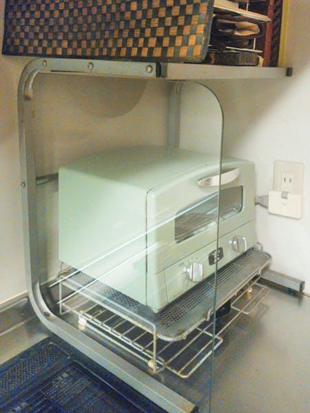 O様 オーブントースターの間に置く耐熱ガラス