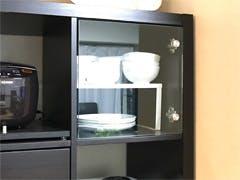 F様 IKEAのKallaxにガラスを取り付け