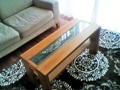 Y様 ダイニングテーブル 中央のガラス