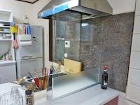 キッチン間仕切り、水はね防止