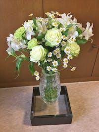 花瓶台の天板ガラス