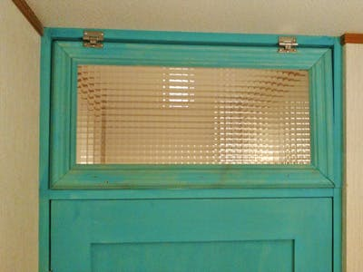 有限会社M様  室内ドア上部窓