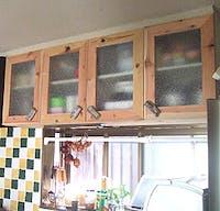 K様 つり戸棚の扉ガラス
