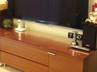 W様 TVボード天板ガラス